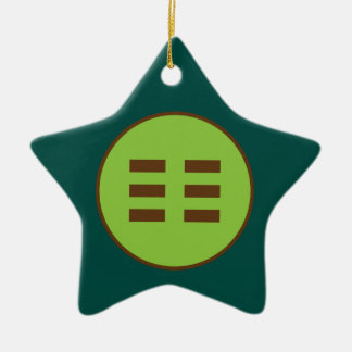I Ching Earth Trigram (Kun) Christmas Ornament