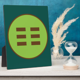 I Ching Earth Trigram (Kun) Display Plaque