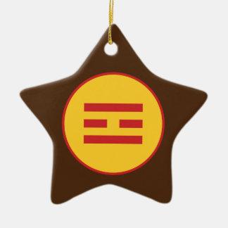 I Ching Fire Trigram (Li) Christmas Ornament