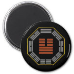 """I Ching Hexagram 11 T'ai """"Tranquillity"""" 6 Cm Round Magnet"""