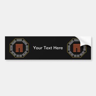 "I Ching Hexagram 12 P'i ""Obstruction"" Car Bumper Sticker"