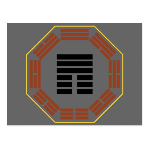 "I Ching Hexagram 12 P'i ""Obstruction"" Post Card"