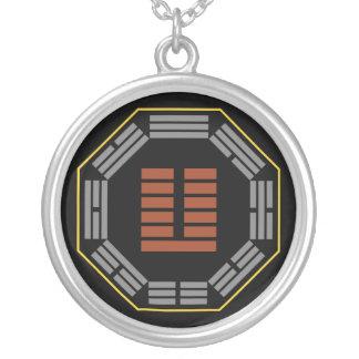 """I Ching Hexagram 24 Fu """"Returning"""" Round Pendant Necklace"""