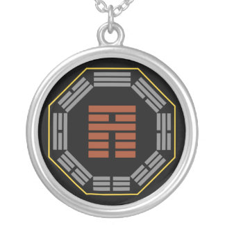 "I Ching Hexagram 35 Chin ""Progress"" Silver Plated Necklace"