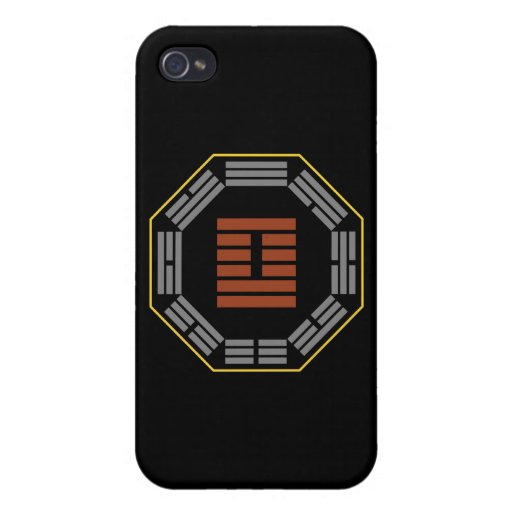"I Ching Hexagram 41 Sun ""Decrease"" iPhone 4 Cover"
