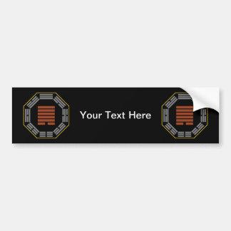 """I Ching Hexagram 44 Kou """"Meeting"""" Car Bumper Sticker"""