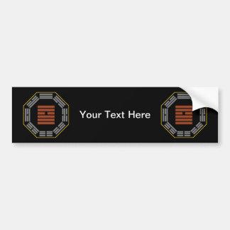 """I Ching Hexagram 9 Hsiao Ch""""u """"Small Accumulating"""" Bumper Sticker"""