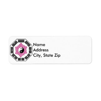 I Ching Lotus YinYang Return Address Label