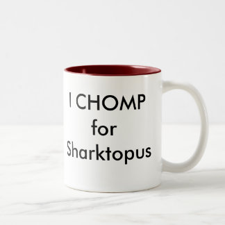I CHOMP for Sharktopus Two-Tone Mug