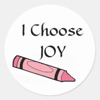 I Choose JOY Classic Round Sticker