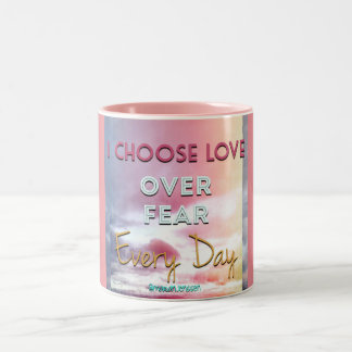 I choose love  ♥️ Two-Tone coffee mug