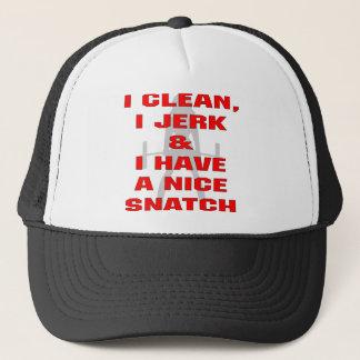 I Clean I Jerk & I Have A Nice Snatch Trucker Hat