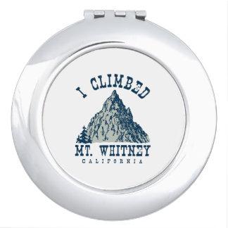 I Climbed Mt. Whitney California Vanity Mirror