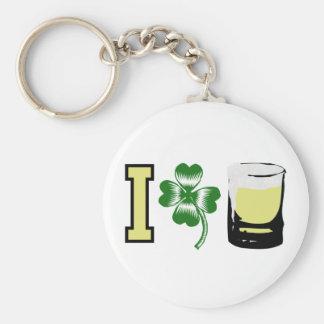 I Clover Beer Irish Keychains