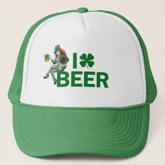 I (clover) BEER Trucker Hat