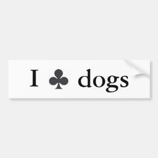 I Club Dogs Bumper Sticker