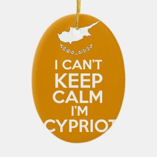 I Cnt Keep Calm Im Cypriot Ceramic Oval Decoration