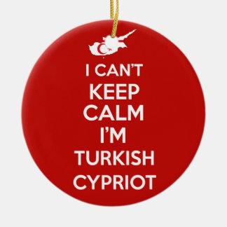 I Cnt Keep Calm Im Turkish Cypriot Round Ceramic Decoration