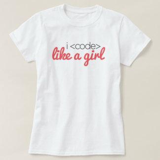 I <code> like a girl Tee
