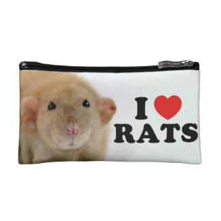 I coils (burmese) Rats Cosmetic Bag