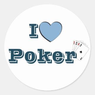 I coils Poker Round Sticker