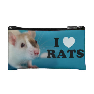 I coils (siamese) Rat Cosmetic Bag