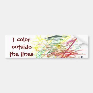 I color outside the lines bumper sticker