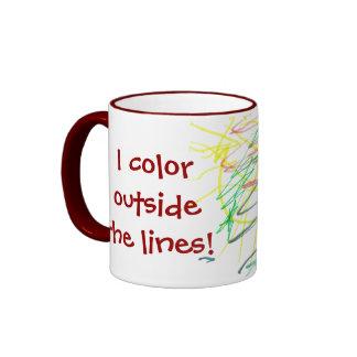 I color outside the lines! mug