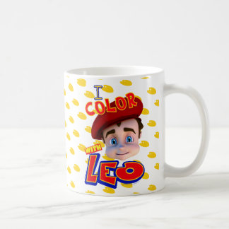 """I Color with Leo"" Mug"