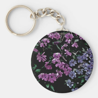 I Come to the Garden Alone Floral Basic Round Button Key Ring