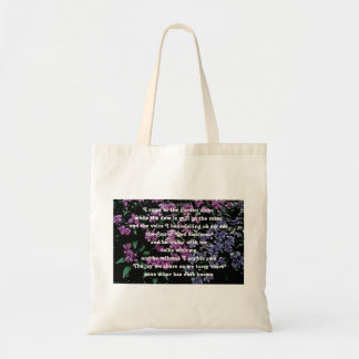 I Come to the Garden Alone Floral Budget Tote Bag