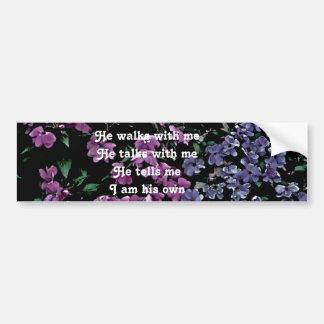 I Come to the Garden Alone Floral Bumper Sticker