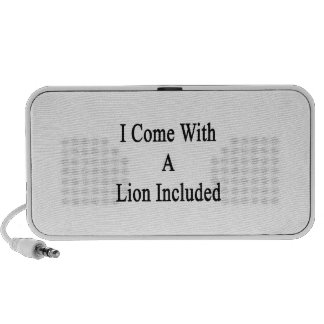 I Come With A Lion Included Mini Speakers