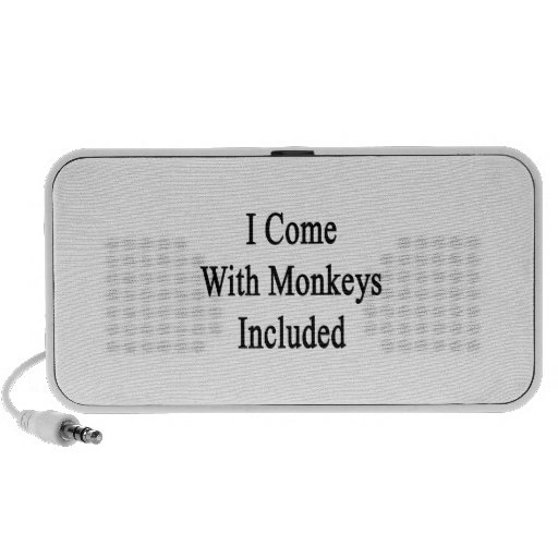 I Come With Monkeys Included Portable Speakers