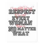 I Completely Respect Every Woman