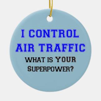 I control air traffic christmas ornament