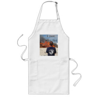 I cook with fire! long apron