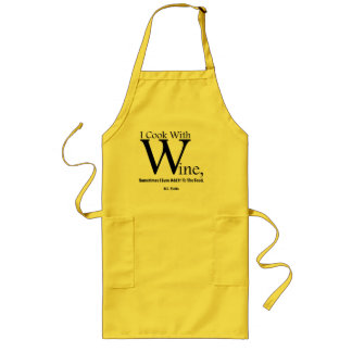 """I Cook With Wine"" Long Apron"