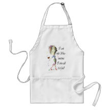 I cook with Wine, sometimes I add to food Apron