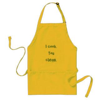 I cook You clean Aprons