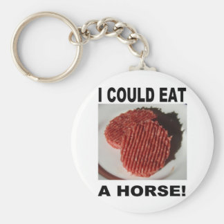 I could eat has horse - beef burgers basic round button key ring