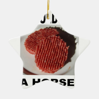 I could eat has horse - beef burgers christmas ornament