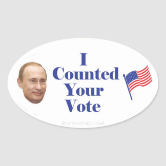 I Counted Your Vote Oval Sticker