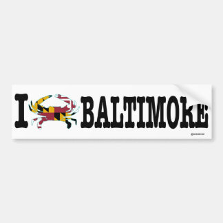 I Crab Baltimore Bumper Sticker