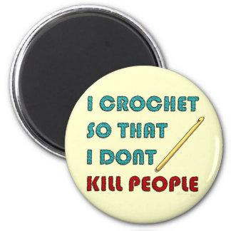 I Crochet, 6 Cm Round Magnet