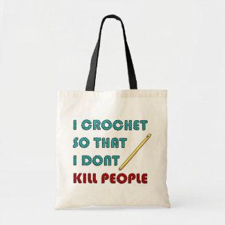 I Crochet, Budget Tote Bag
