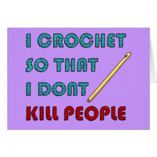 I Crochet, Greeting Card
