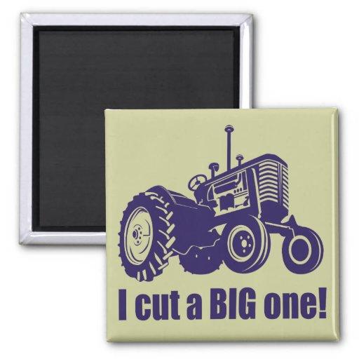 I Cut A Big One Landscaper Magnets