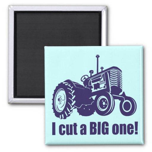 I Cut A Big One Landscaper Fridge Magnets