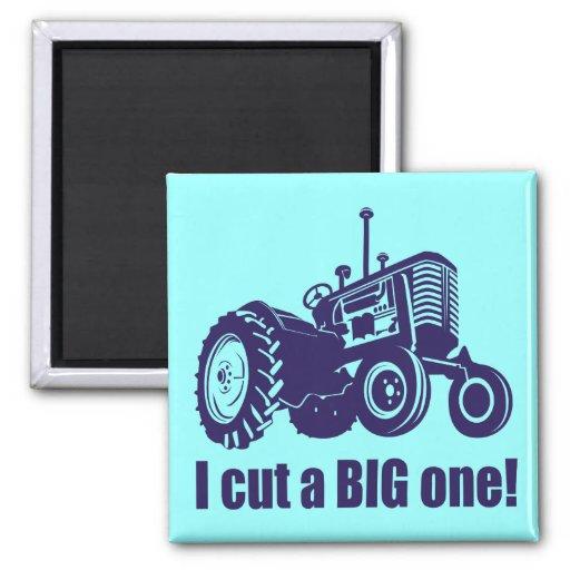 I Cut A Big One Landscaper Refrigerator Magnets